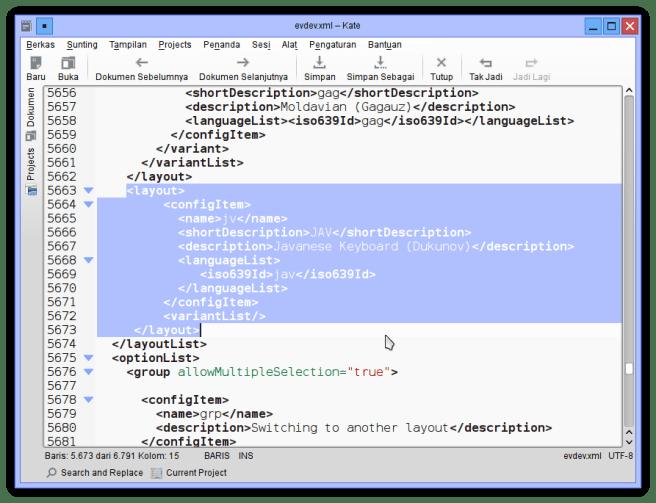 Menyisipkan input method Javanese
