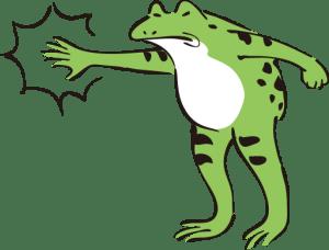 怒るカエル
