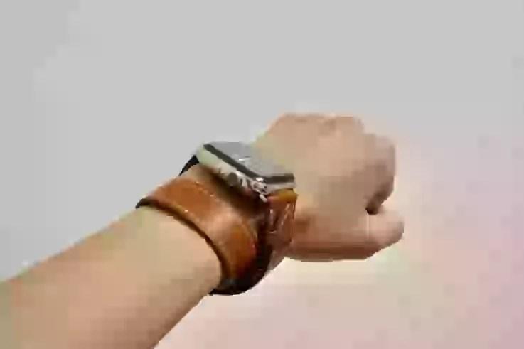 Apple Watch Band Wollpoの横から見た図