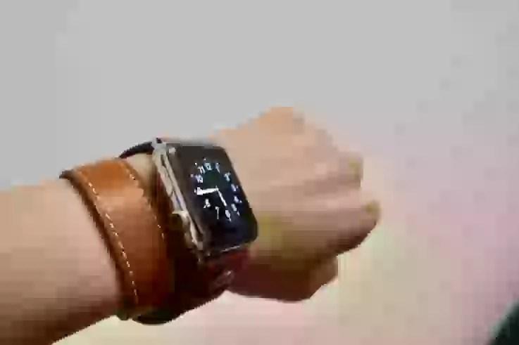 Apple Watch Band Wollpoの上から見た図