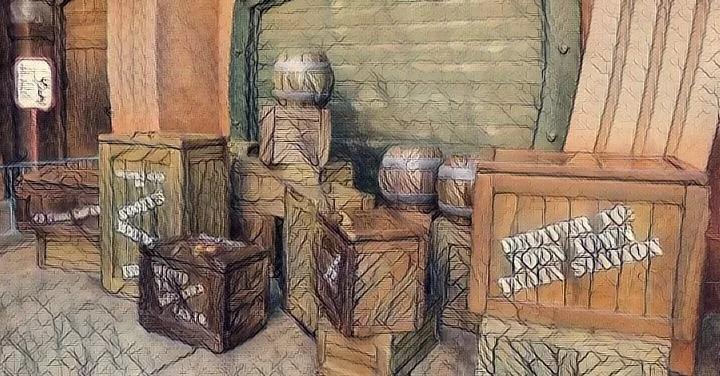 ディズニーの木箱
