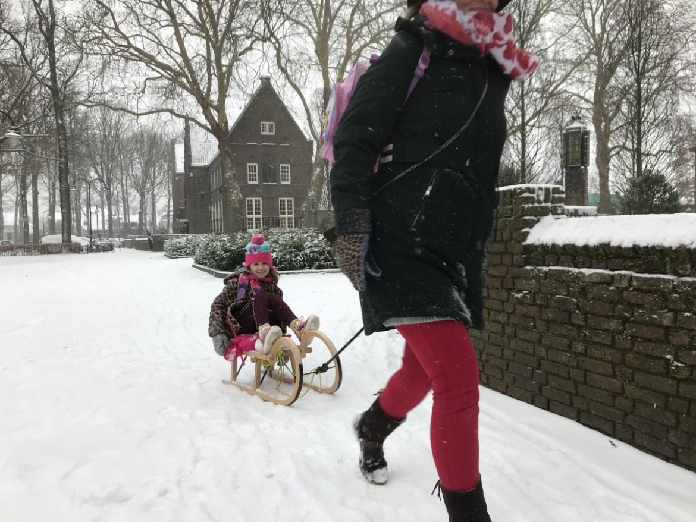 Run op sleeën en  schaatsen