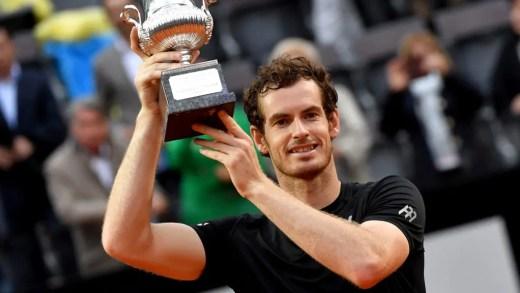 Andy Murray bate Djokovic pela primeira vez em terra e é campeão em Roma