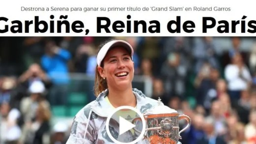 Título de Muguruza leva imprensa espanhola à loucura