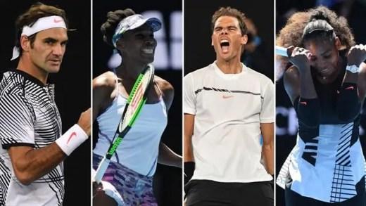 Lembra-se do último (e único) Grand Slam com finais Williams-Williams e Federer-Nadal?