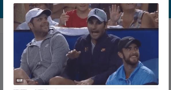Roger Federer a tocar bongos é já dos melhores GIFs de 2017
