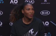 Serena: «Não vim para perder na primeira ronda nem na segunda… ou para perder, sequer»