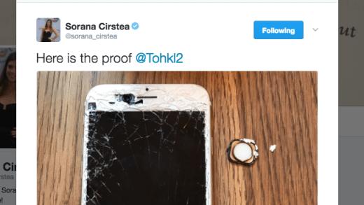 Sorana Cirstea destruiu o iPhone depois de perder a eliminatória na Fed Cup