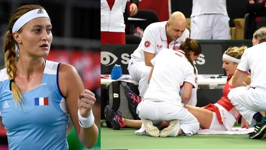 Mladenovic arrasa Bacsinszky: «Ela pediu assistência médica e depois começou a correr que nem um canguru»