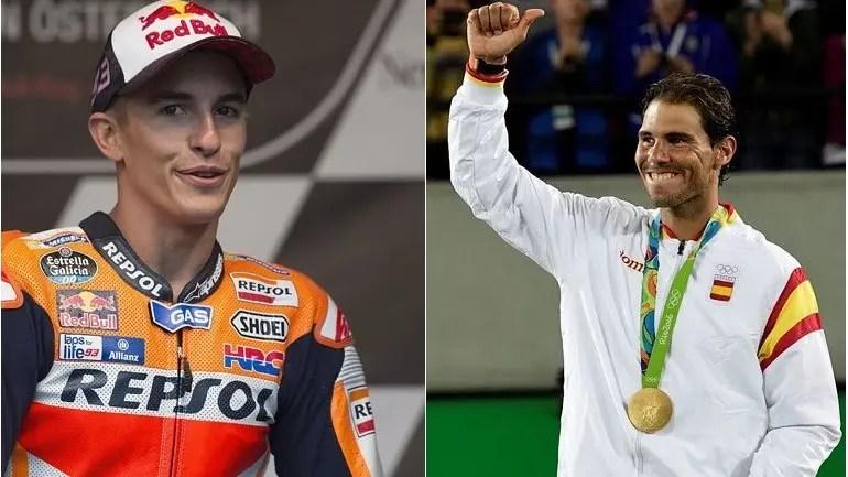 """[Vídeo] Campeão do Mundo de MotoGP quer """"c*gar de medo"""" Rafa Nadal com viagem memorável"""