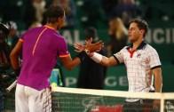 Diego Schwartzman pede camisola de Rafael Nadal depois da derrota em Monte Carlo