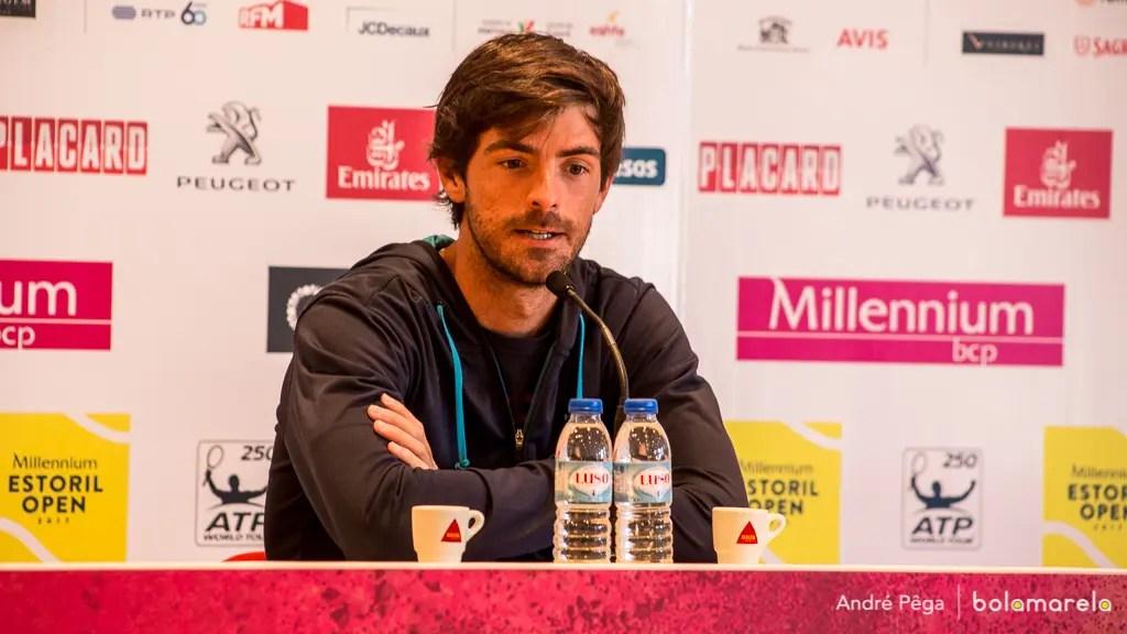Gastão Elias nos quartos de final do torneio de Lyon — Ténis