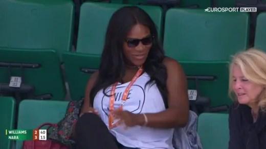 [Vídeos e fotos] Serena Williams… apareceu em Roland Garros
