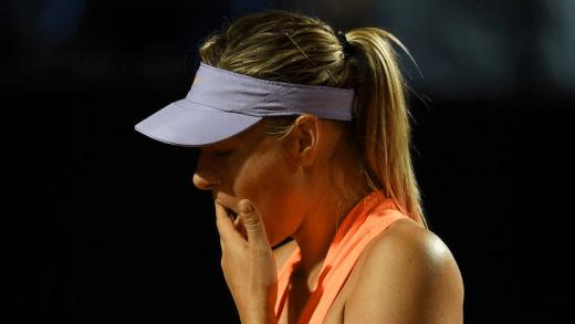 Sharapova não apareceu para a conferência de imprensa após desistir em Roma e foi direta fazer exames