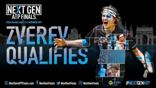 OFICIAL. Zverev é o PRIMEIRO QUALIFICADO para as NextGen Finals de Milão