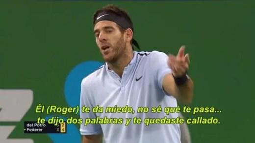 [VÍDEO] Del Potro acusou o árbitro de… ter medo de Federer