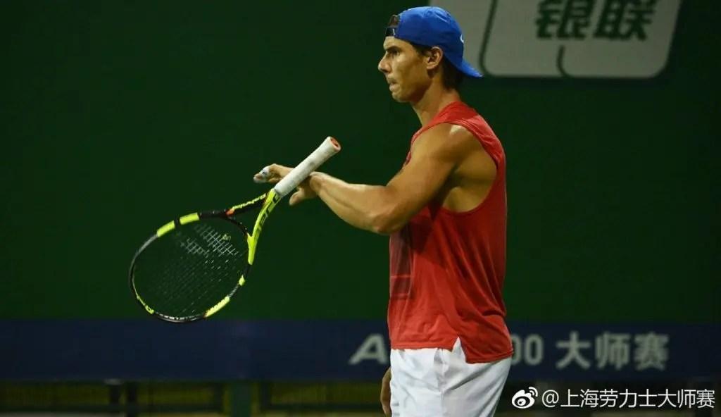 [VÍDEO] Nadal treinou em Xangai menos de 24h depois de ser campeão em Pequim