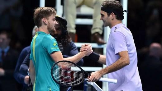 """Roger Federer também admira David Goffin: """"É uma excelente pessoa e gosto muito dele"""""""