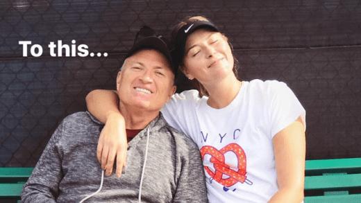 [FOTOS] Sharapova deixa mensagem bonita ao pai, Yuri