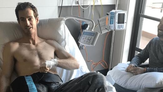 [FOTO] Murray deixa imagem no hospital e colegas do circuito comentam. Del Potro: «Imagino o que sentes»