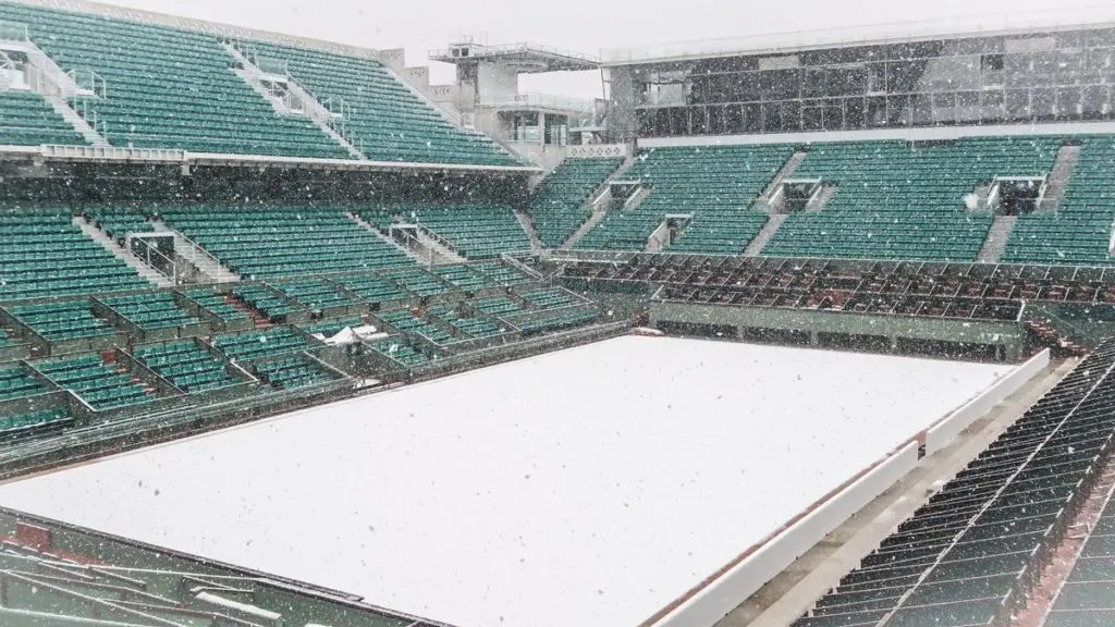 [FOTOS] Roland Garros apanhado pelo maior nevão dos últimos 30 anos