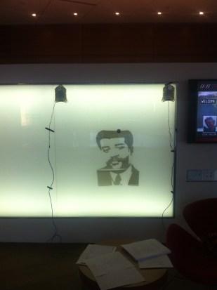 Neil Degrasse Tyson drawing inside WID