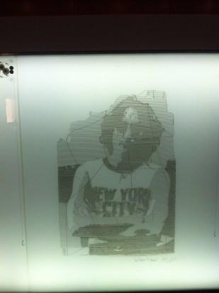 Drawing of John Lennon inside WID