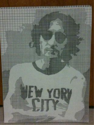 John Lennon; Pen, Paper