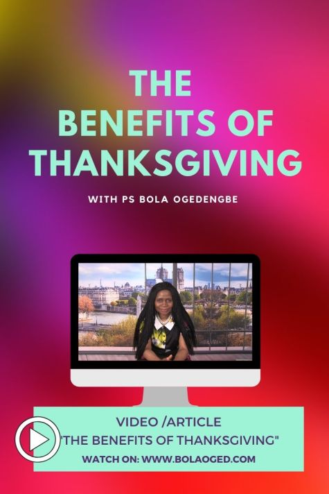 A great video/article about the benefits of thanksgiving. Why do we thank God?