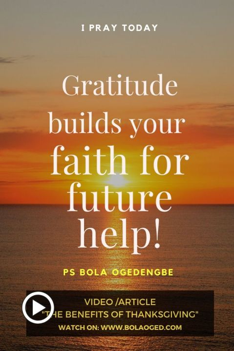 How do you increase your faith? Give constantly thanks to God