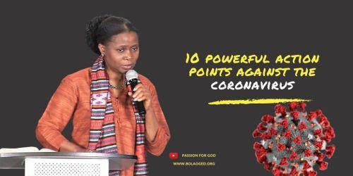 10 powerful action points against the coronavirus
