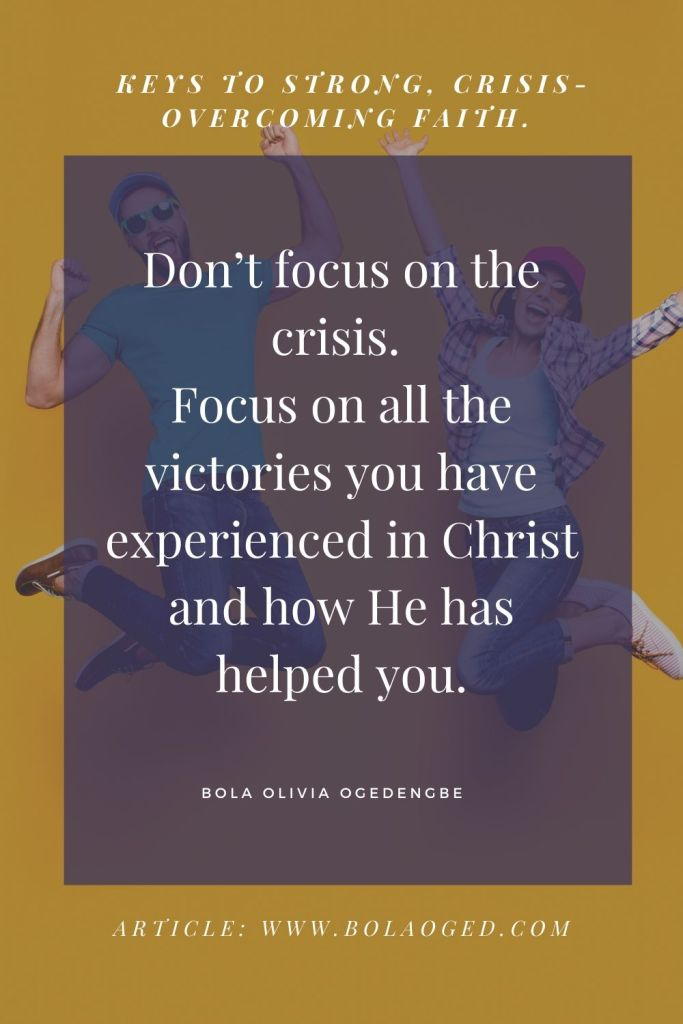 How to overcome crises by faith