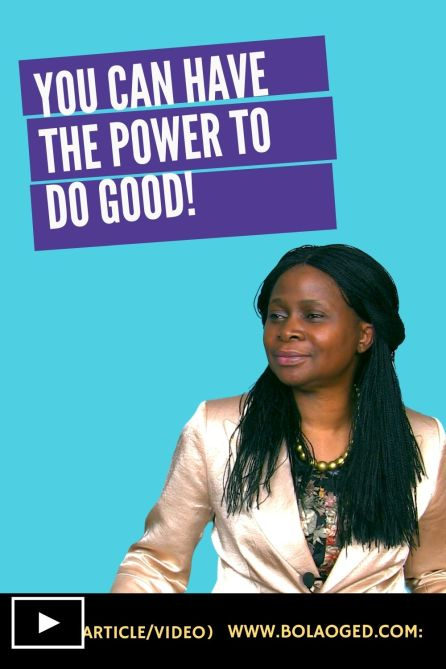 the power to do good