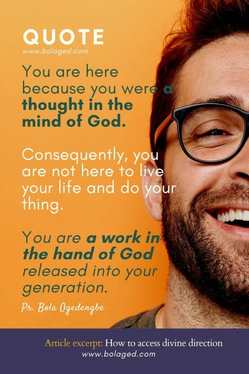 You are a work in the hand of God.