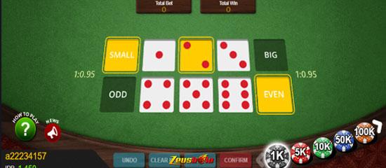 Jenis-jenis taruhan pada permainan dice 6 pool online