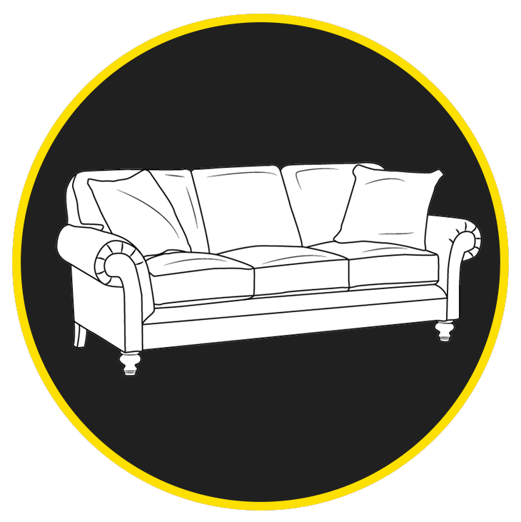 Couch Icon black background circle