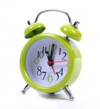 Yellow & Chrome Analog Alarm Clock