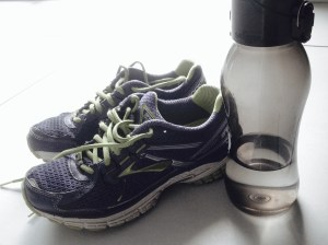 sneakers & water bottle