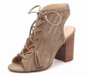 fb92b999cd7 Jessica Simpson Tinnay Sandal in Nude  The Tinnay sandal has a block heel  and ghillie