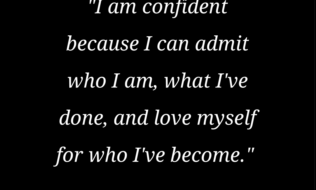Coping With Confidence Draining Chronic Illness Featured image quote is in the body of the post. The quote is white text on a black background.