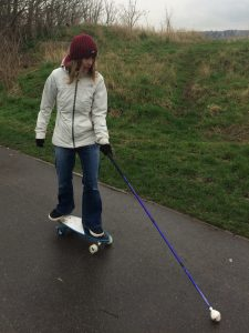 Description of Victoria on a skateboard is in the body of the post.
