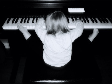 Holly Playing Piano With Hands & Feet image description is in the body of the post.