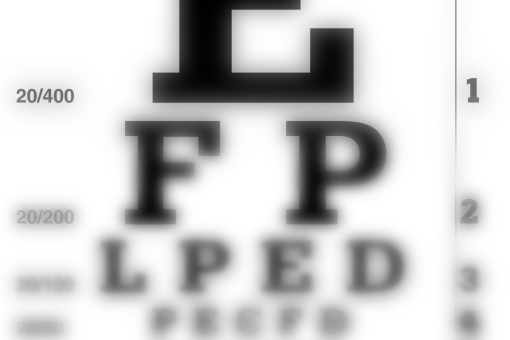 Blurred image of an eyechart