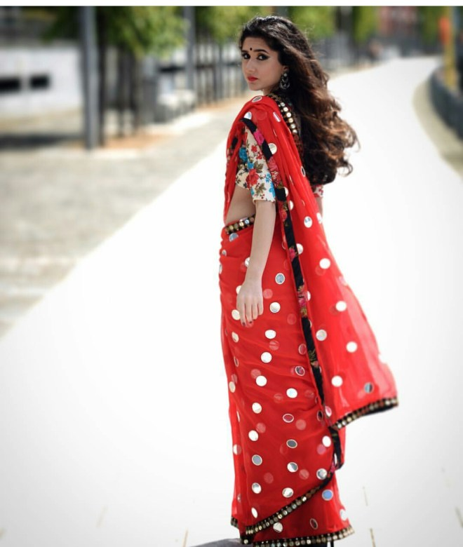 Mirror saree