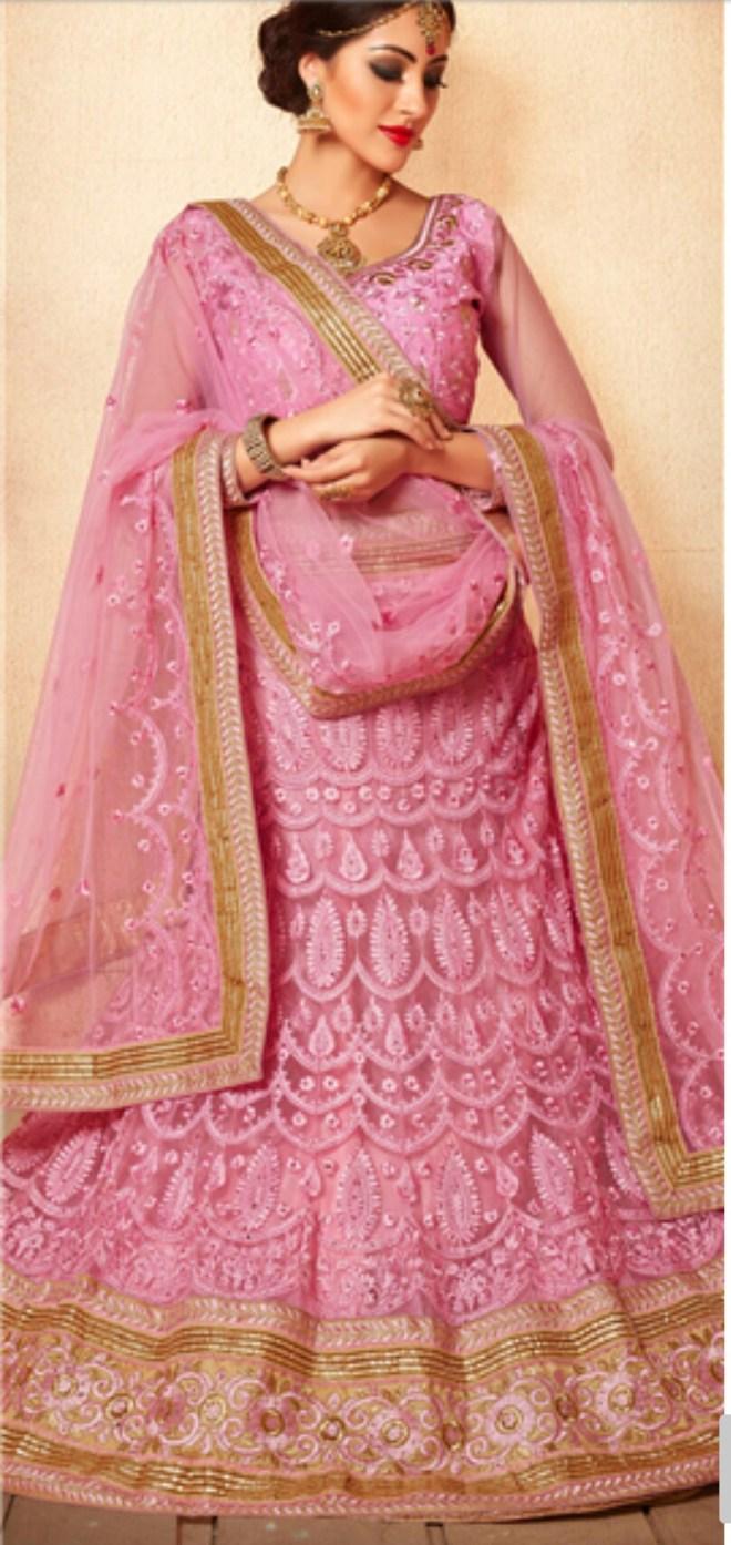 The pink lehenga