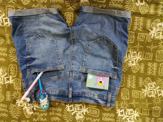 denim shorts Sarojini Market Delhi haul