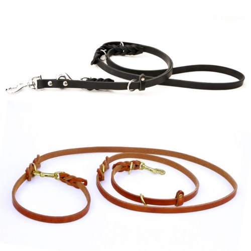 8-Way Lead™ - versatile leather leash (6 or 8 feet long)