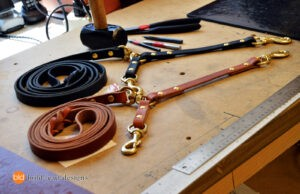 custom designed leather dog leash by Bold Lead Designs