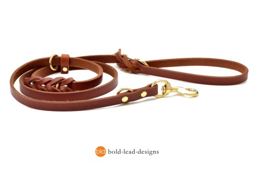 The Working Dog Lead™ - 5 ft. leather Euro leash