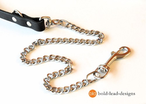 Chain and Brahma 8-Way Lead™ - chew resistant Multi-Functional vegan dog leash